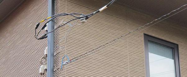 引き込み線(電線)が細い