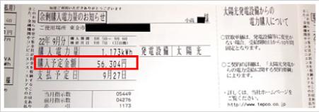 日天の口コミ・評判『利用者の売電明細』