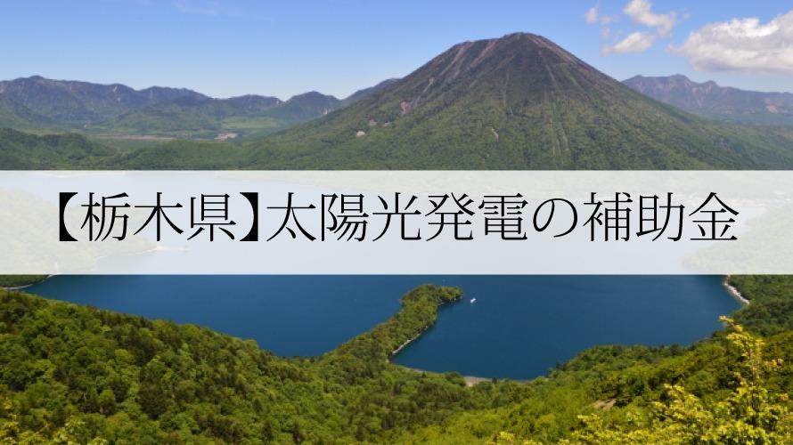 栃木県の太陽光発電補助金