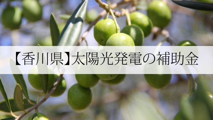 香川県の太陽光発電補助金