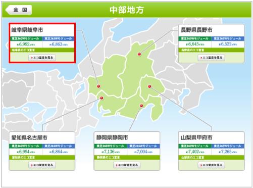 東芝を岐阜県に設置した際の年間発電量