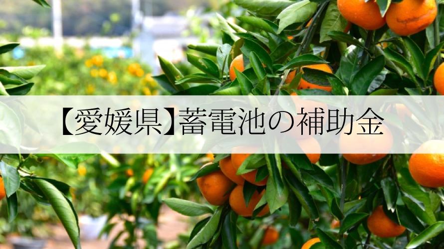 愛媛県の蓄電池補助金
