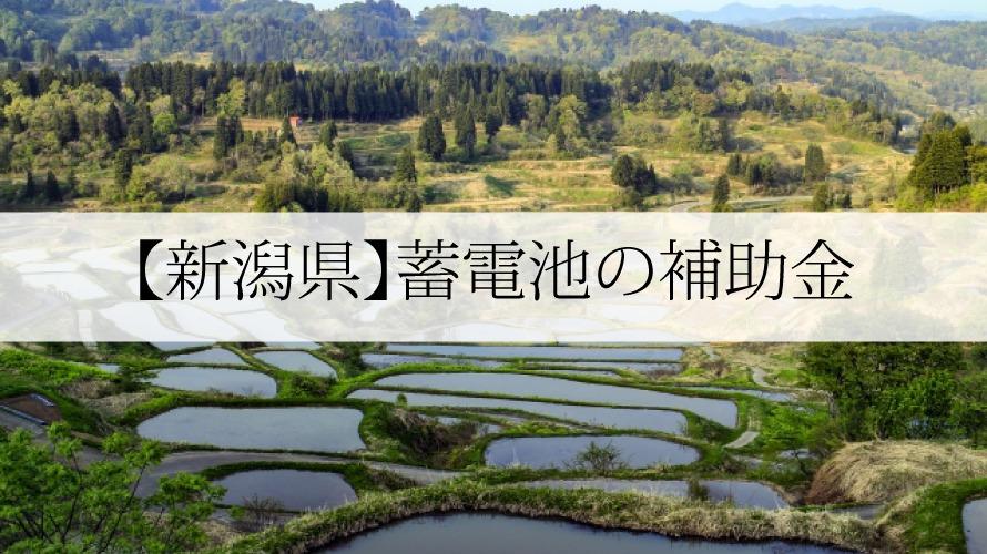 新潟県の蓄電池補助金