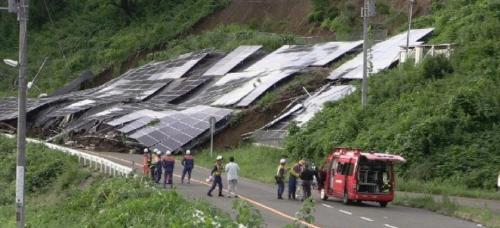 洪水による土砂崩れのリスク